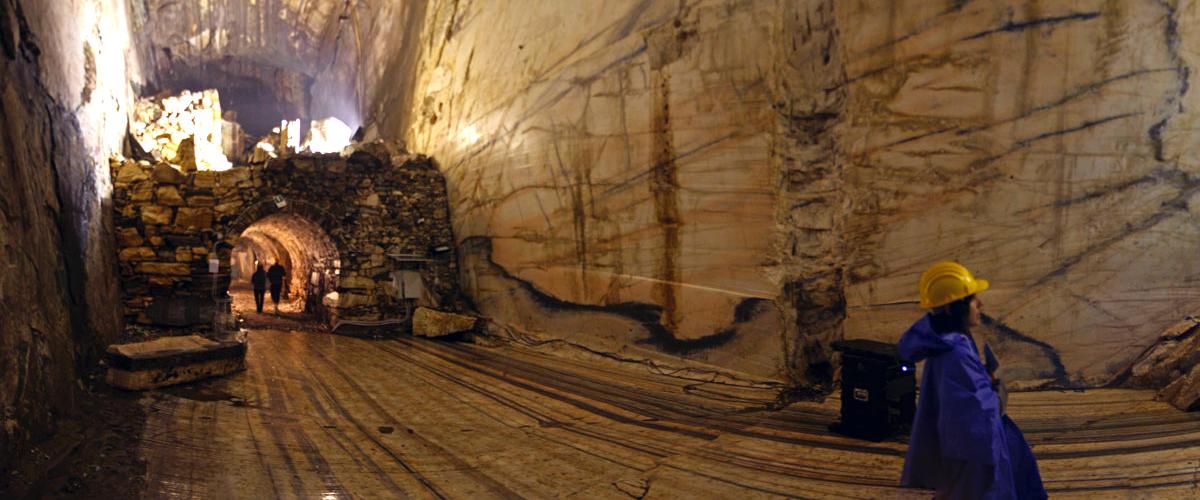 Un esempio unico di cava di marmo sotterraneo
